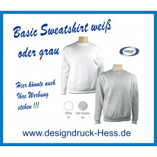 Basic Sweatshirt weiß