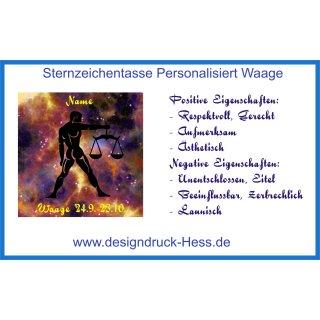 Sternzeichen Tasse Waage Designdruck Hess 7 00