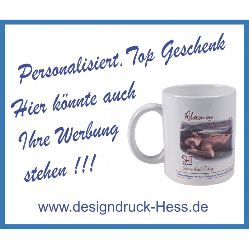 standard tasse mit text bild designdruck hess 06857. Black Bedroom Furniture Sets. Home Design Ideas