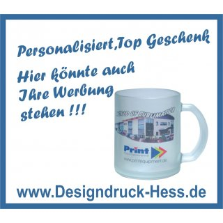 Glasstasse satiniert