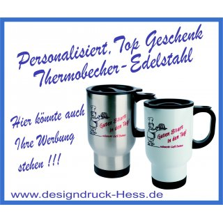 Thermobecher silber